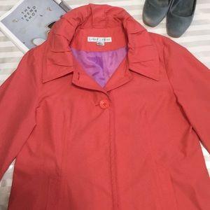 Larry Levine Orange Spring Jacket